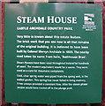 H1758 : Information board, Castle Archdale Steam House by Kenneth  Allen