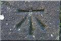 SE1565 : 1GL Bolt Bench Mark, Pateley Bridge by Mark Anderson