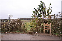 TQ2057 : Footpath to Walton on the Hill, Langley Vale Road by Hugh Craddock