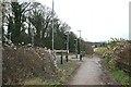 TQ2057 : Horse margin and equestrian crossing, Langley Vale Road by Hugh Craddock