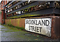 J3271 : Brookland Street sign, Belfast by Rossographer