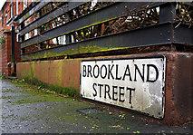 J3271 : Brookland Street sign, Belfast by Rossographer