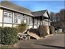 TQ3303 : East Brighton Park Cafe & Pavilion by Paul Gillett