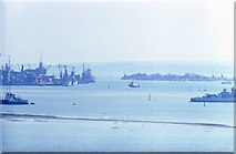SU6203 : Portsmouth Harbour from Portchester Castle (2) by Barry Shimmon