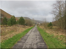 SS9389 : Cycle path near Ogmore Vale by John Light