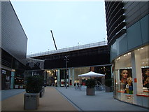 TQ3884 : View of the central plaza in Westfield Shopping Centre by Robert Lamb