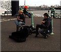 TQ3103 : Buskers, Brighton Beach by Christine Westerback