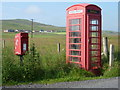 HU4346 : Gott: postbox № ZE2 9 and phone by Chris Downer