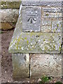 NO5613 : Bench Mark, Boarhills and Dunino Parish Kirk by Maigheach-gheal