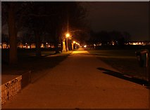TQ7668 : Path from Brompton to Gillingham (at night) by David Anstiss