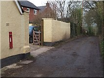 ST0107 : Bridleway and Edward VII wallbox by David Smith