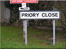 TM2373 : Priory Close sign by Adrian Cable
