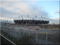 TQ3783 : View of the Olympic Stadium from the Greenway by Robert Lamb