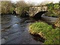 G9379 : Swollen Eske River at old rail bridge; Drumrooske by louise price