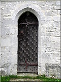 SY5889 : Priest's door, The Church of St Michael and All Angels by Maigheach-gheal