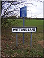 TM1977 : Roadsigns on Wittons Lane by Adrian Cable