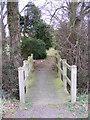 TM2374 : Footbridge to Stradbroke Cemetery by Geographer