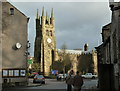 SK1575 : Tideswell - view towards the church by Andrew Hill