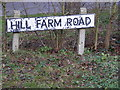 TM2147 : Hill Farm Road sign by Adrian Cable