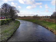 SJ7993 : River Mersey from Crossford Bridge by David Dixon