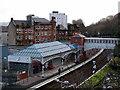 NS3274 : Port Glasgow railway station by Thomas Nugent