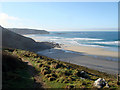 SW3627 : Looking back towards Sennen Cove from the South West Coastal Path by John Lucas