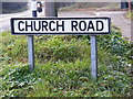 TM4575 : Church Road sign by Adrian Cable