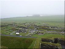 HU3909 : Jarlshof: looking over the Viking settlement by Chris Downer