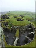 HU3909 : Jarlshof: looking down into a round house by Chris Downer