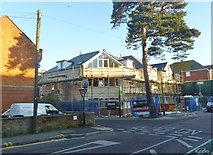 SZ1191 : Boscombe, building site by Mike Faherty