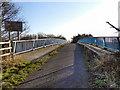 SJ7784 : Ashley Hall Footbridge by David Dixon