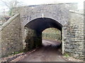 ST1988 : Southern side of a former railway bridge, Machen by Jaggery