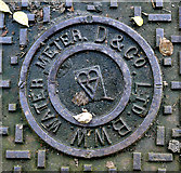 J3372 : Water Meter Cover, Belfast by Rossographer