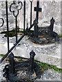 SZ0287 : Boot scrapers, St Mary's Church by Maigheach-gheal