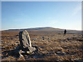 NY6537 : Upright stone, Maiden Way on Melmerby Fell by Karl and Ali