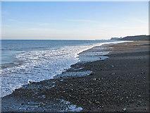NZ8612 : Sand and pebble beach by Pauline E
