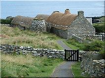 HU3914 : Shetland Crofthouse museum - entrance by Rob Farrow