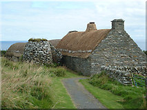 HU3914 : Shetland Crofthouse museum - croft, kiln and barn by Rob Farrow