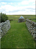 HU3914 : Garden and shed at Shetland Crofthouse Museum by Rob Farrow
