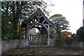 TQ8275 : Lych gate, Church of St Peter and St Paul, Stoke by N Chadwick