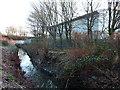 SJ8293 : Chorlton Brook at the rear of Chorlton High School by Phil Champion