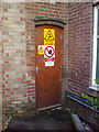 TL2862 : Electrical Control Room Door at Papworth Hospital by Adrian Cable