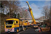 TQ2652 : Crane preparation by Ian Capper