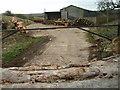 SP9430 : Wood yard near Hill Farm by Michael Trolove