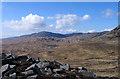 NR5274 : Rocks of knoll east of Lochanan Tana by Trevor Littlewood