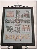 TQ7254 : Barming Village Sign (Close-up) by David Anstiss