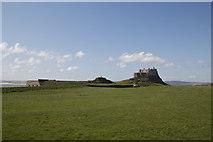 NU1341 : Lindisfarne Castle plateau Holy Island by Peter Skynner