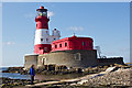 NU2438 : Longstone Lighthouse South Landing Path by Peter Skynner