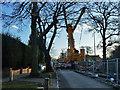TQ4568 : Bridge replacement on Chislehurst Road by Robin Webster