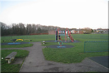 SU6350 : Kingsmill Road Play Area by Given Up